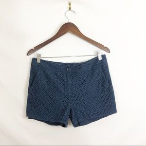 Cynthia Rowley Textured Blue Shorts Size 12